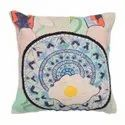 Embroidery Work Accent Cushion Cover