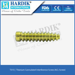 Titanium Cannulated Interference Screw (ACL Screw)