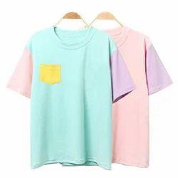 Half Sleeves Cotton Pastel Colors T - Shirt