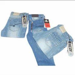 Kcoy Men Designer Cotton Lycra Denim Jeans, Waist Size: 30-42
