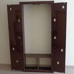 Double Door Brown Wooden Pooja Unit, Size: 3 To 4 Feet (height)