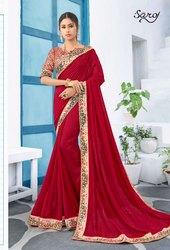 Designer Red Fancy  Ethnic Saree
