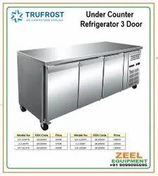UCR SS Under counter Refrigerator 3 Door, Model Name/Number: Stf 3100tn, Number Of Shelves: 6