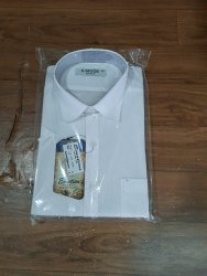 Male Plain Cotton Shirt, Size: 42