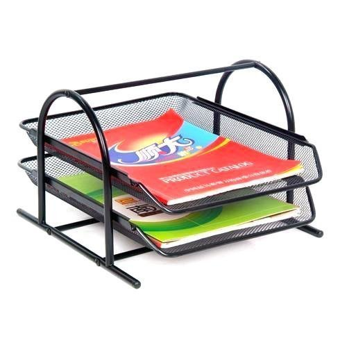 barbed shelf desk tier file office wire letter tray organizer storage product mesh