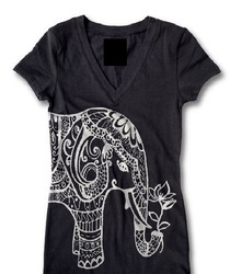 Women Black Printed T-Shirt