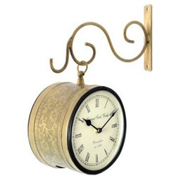 Brass Station Clock