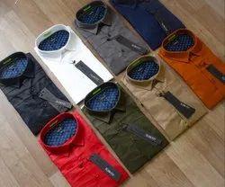 Satin,Lycra Collar Neck Replay Mens Shirts