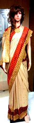 Zari Party Wear Ladies Fancy Saree, With blouse piece, 5.5 m (separate blouse piece)