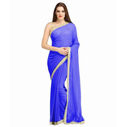 Ladies Georgette Saree with Blouse Piece, Length: 5.5 m