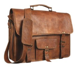 Vintage Handmade Leather Messenger Bag for Laptop Briefcase Satchel Bag 11 X 15 inches
