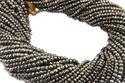 Natural Pyrite Faceted Beads