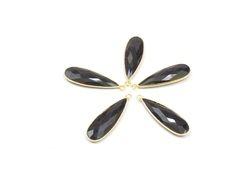 Black Onyx Gemstone Connectors