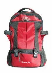 Double Zipper Red Tourist Bag