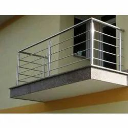 Silver Stainless Steel Balcony Grills, For Residential And Commercial