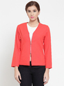 Formal Plus Size Xl Available Martini Cherry Red Front Zipper Summer Blazer