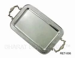 Pure Silver Rectangular Serving Tray