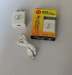 1 Meter ABS 2.4 Amp Mobile Charger, Size: 45 * 65 Mm , Weight: 50 Gms
