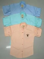 Kids Plain Full Sleeve Shirts