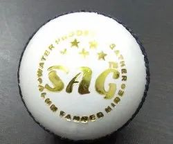 Test White Leather Cricket Ball