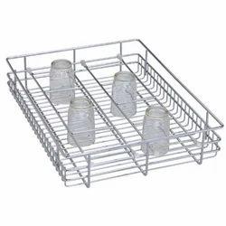 SS Glass Basket, For Hotel/Restaurant