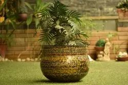 Handcrafted Iron Netted Colorful Planter