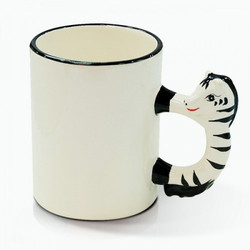 Ceramic White Animal Mug Horse, Packaging Type: Box, Size: 11oz