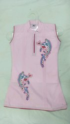 Baby Pink Colour Embroided Top