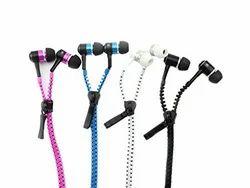 Zipper Earphones With Mic Headset