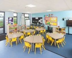 School Interior Designing, Work Provided: Wall Paper/Paint Work