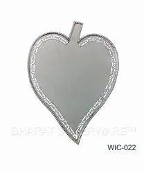 Pure Silver Leaf Wedding Card
