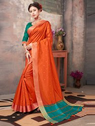 Traditional Banglori Silk Weaving  Saree With Blouse Piece