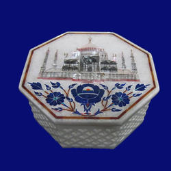 Marble Boxes With Taj Mahal Design
