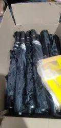 Black Silver Manual 2 Fold Umbrella