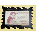Red Big Jumbo Wood Engraving Photo Frame, For Gift