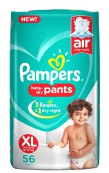 Pampers Baby Pant Diapers Xl-56