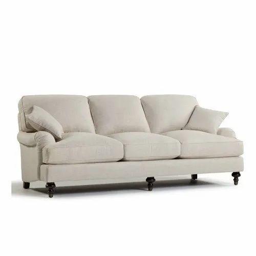 L Shape English Rolled Arm Sofa Set