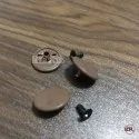 Mild Steel Tich Buttons Brown