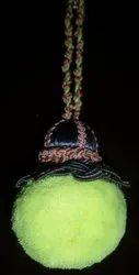Parrot Green Pom Pom Fringes