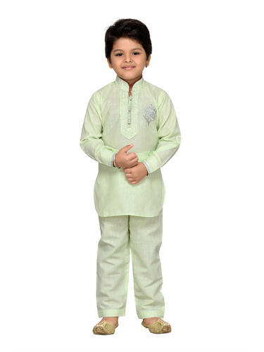 30e106ae8b Black And Firozi Yellow Cotton Kids Pathani Suit For