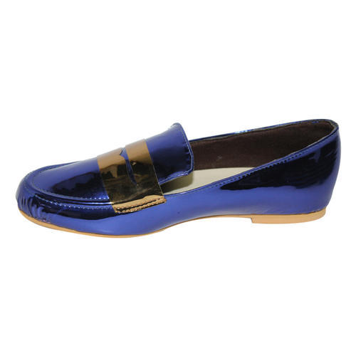 Blue Womens Loafers Shoes