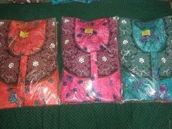 Cotton Gown, Size: Free