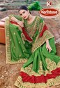 Fancy Heavy Embroidery & Diamond Work Saree With Lace - Monalisa 05