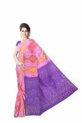 Lavender Multi Color Banarasi Georgette Saree