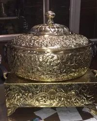 designer brass chafing dishes