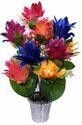 Multi Colour Diwali Artificial Flowers With Pot