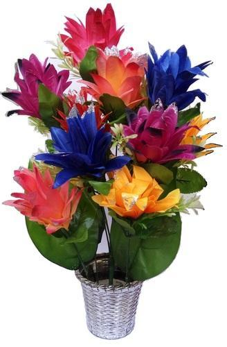 artificial flowers with pot