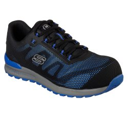 Skechers Safety Shoes 77180 Blue Bulklink Comp Toe