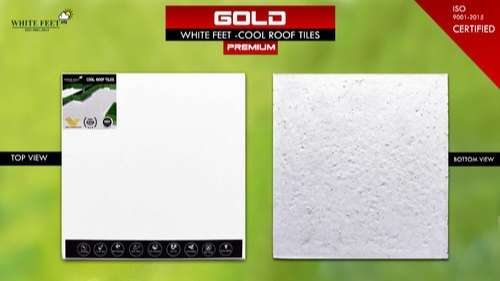 White Feet Cooling White Roof Tile