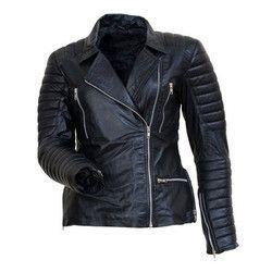 Black Men Biker Leather Jacket